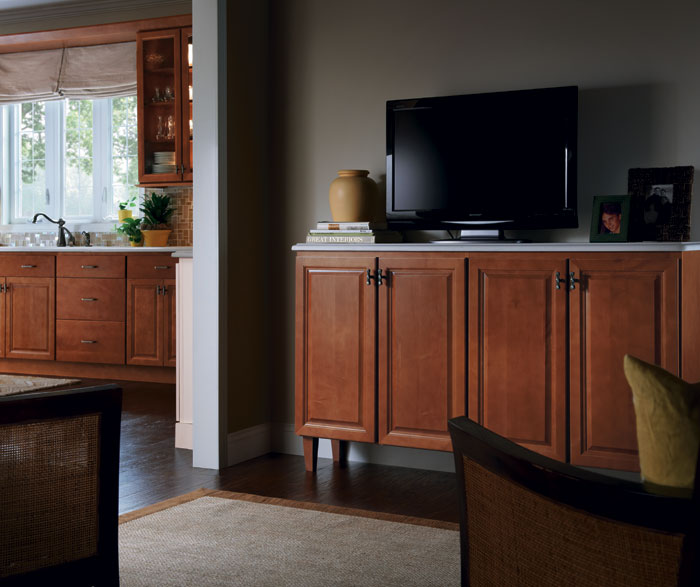 Living Room Island Cabinets: Homecrest Cabinetry